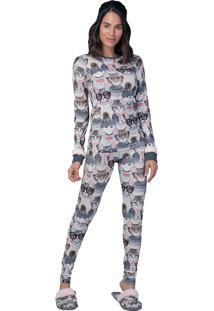 Pijama Slim Supercat Lua Luá Multicolorido