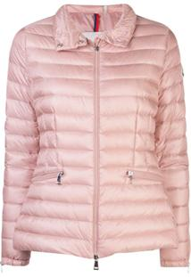 Moncler Fitted Padded Jacket - Rosa