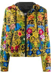 Versace Jeans Couture Jaqueta Bomber Com Estampa Barroca - Preto