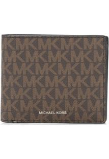 Michael Kors Collection Carteira Greyson Com Logo - Marrom