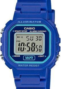 Relógio Casio Quadrado La Feminino La-20Wh-2Adf - Feminino-Azul
