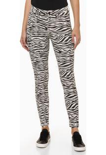 Calça Jeans High Rise Skinny Est Zebra - Preto - 34