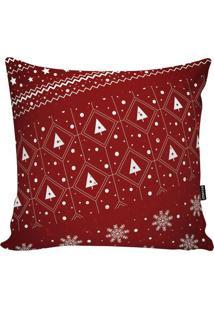 Capa Para Almofada Em Microfibra ÁRvore De Natal- Vermelstm Home
