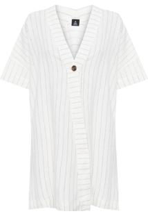 Vestido Linho Recortes - Off White
