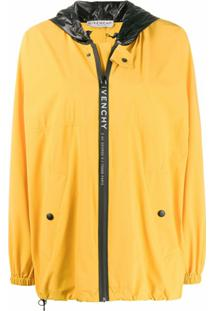 Givenchy Jaqueta Corta-Vento Oversized Com Logo E Listras - Amarelo