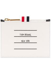 Thom Browne Porta Moedas Com Logo - Preto