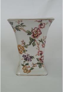 Vaso Quadrado Flores Coloridas