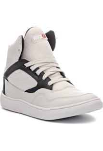 Tênis Sneaker Masculino Rock Fit Silverchair Em Couro Marfim