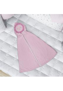 Toalha Banho Bebê Rosa Com Capuz Sol Grão De Gente Rosa