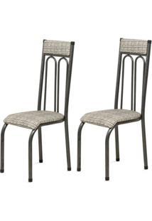 Cadeira Assento Anatomico 2 Peças 00120 Preto Bege Archeli