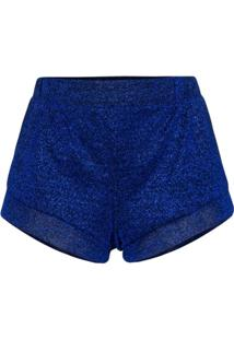Oséree Lumière High Waist Shorts - Azul