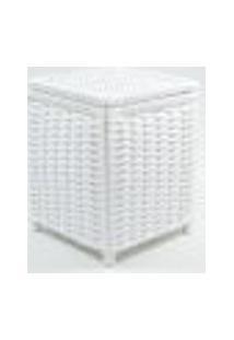 Lixeira / Papeleiro Lavabo E Escritório Fibra Sintetica 20X20X25 - Branco