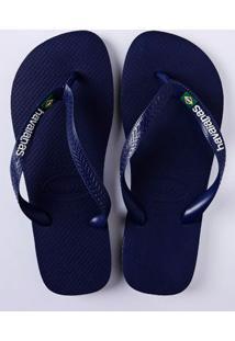 Chinelo Masculino Havainas Brasil Azul Marinho