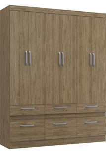 Guarda-Roupa Citrino 6 Portas 6 Gavetas Decibal Moveis Wood