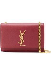 Saint Laurent Bolsa Transversal Kate Pequena - Vermelho