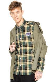 Camisa Von Dutch Xadrez Flanela Patch Amarela/Verde