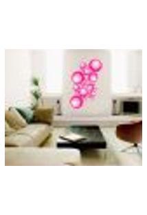 Adesivo Decorativo - Círculos Rosas - Pequeno