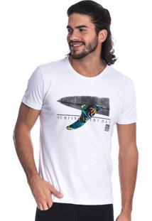 Camiseta Long Island Surfing Branca