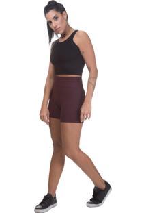 Short Bandagem Miss Blessed Premium Marsala