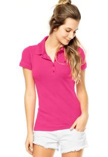 ... Camisa Polo Colcci Logo Rosa b02f5bca686ef