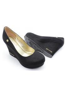 Scarpin Barth Shoes Land Simple Suede - Preto