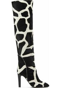 Giuseppe Zanotti Vestido Com Estampa De Girafa - Preto
