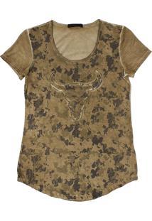 Camiseta Tassa Dourado