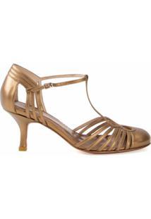 Sarah Chofakian Sapato De Couro - Metálico