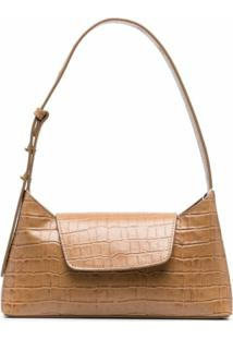 Elleme Envelope Crocodile-Effect Shoulder Bag - Marrom