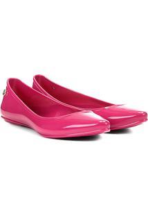 Sapatilha Bottero Plástico Bico Fino Lisa Feminina - Feminino-Pink