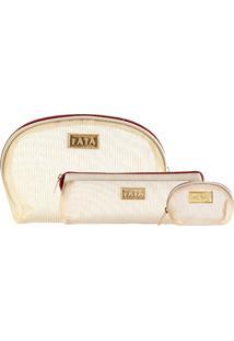 Kit Necessaire Latito Fata - Dourado
