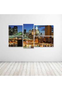 Quadro Decorativo - New York City (3) - Composto De 5 Quadros