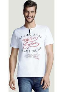 Camiseta Masculina Hering Slim Com Botões