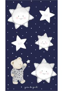 Adesivos De Parede Urso Nas Estrelas Poá Azul Grão De Gente Azul