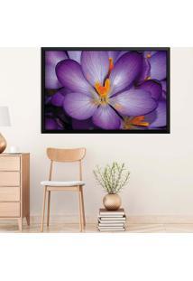Quadro Love Decor Com Moldura Violetas Preto Grande
