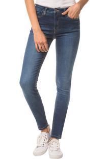 Calça Jeans Five Pockets Ckj 001 Super Skinny - Azul Médio - 34