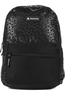 Mochila Pacific Estampada Playstation Ps Masculina - Masculino-Preto