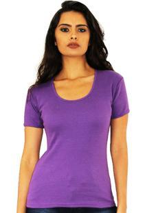 Camiseta Básica Francine Vinho
