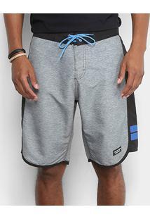 Bermuda D'Água Calvin Klein Recorte Lateral Masculina - Masculino-Mescla