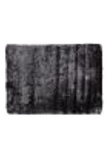 Tapete Shaggy Retangular Poliéster (150X200) Cinza Escuro