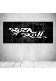 Quadro Decorativo - Rock'N Roll (2) - Composto De 5 Quadros