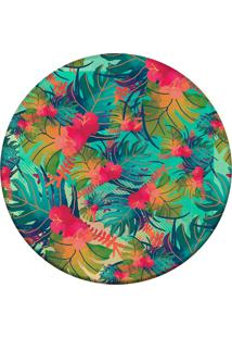 Tapete Love Decor Redondo Wevans Tropical Multicolorido 84Cm