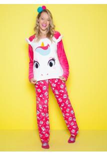 Pijama Soft Unicórnio Adulto Puket - Feminino