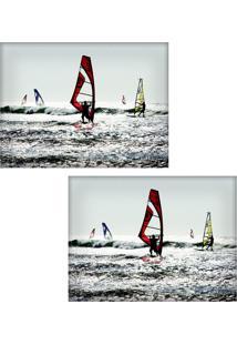 Jogo Americano Colours Creative Photo Decor - Windsurf - 2 Peças