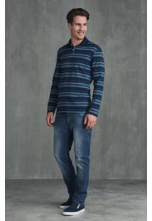 Camisa Polo Slim Manga Longa