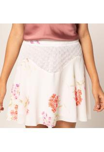 Saia Evas㪠Floral - Off White & Coralpop Up
