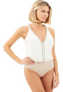 Body Le Lis Blanc Anny Seda Off White Feminino (Off White, 38)