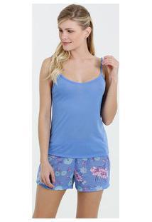 Pijama Feminino Short Doll Floral Marisa