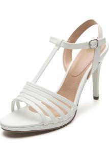 Sandália D.Dress Tiras Branca