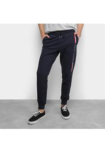 Calça Tommy Hilfiger Jogger Basic Branded Sweatpants Masculina - Masculino-Marinho